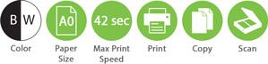 BW A0 42sec Print Copy Scan