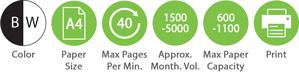 BW A4 40ppm 1500 5000amv 600 1100pc Print