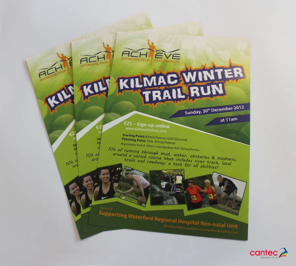 Achieve Kilmac Winter Trail Run Flyer