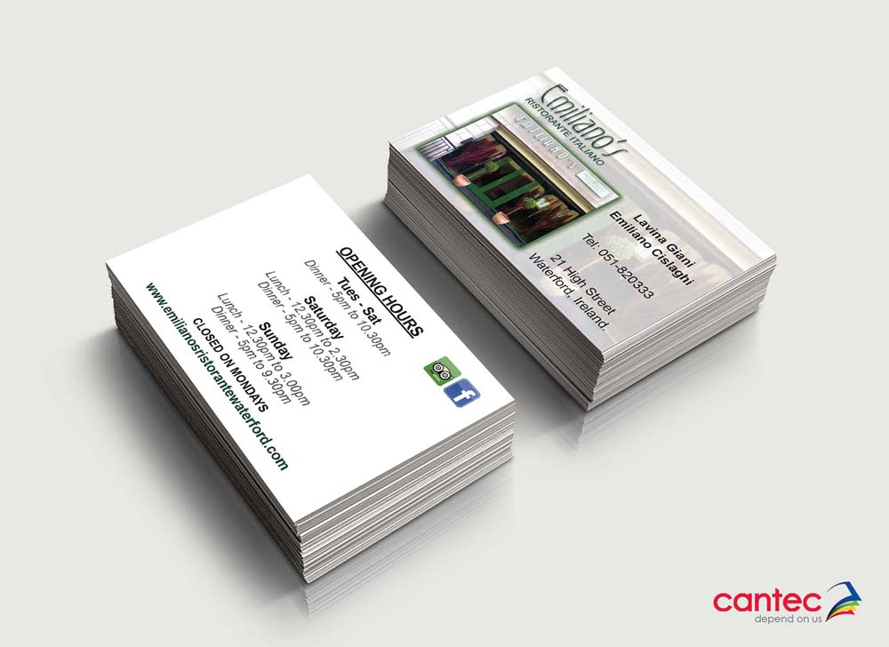 Emilianos Restaurant Business Cards
