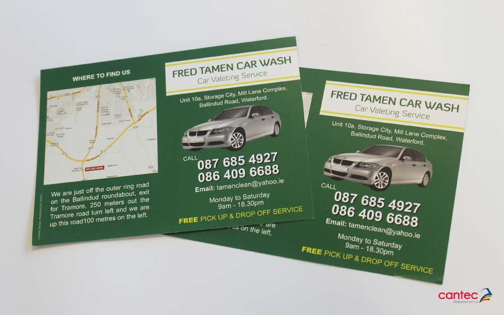 Fred Tamen Car Wash Flyer