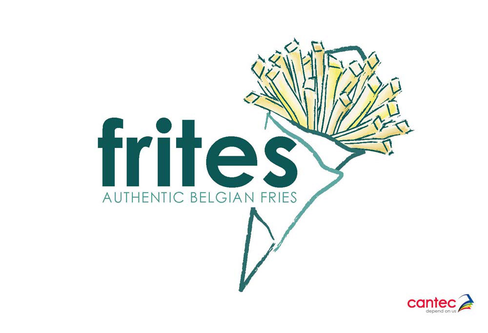 Frites Authentic Belgian Fries Logo Design