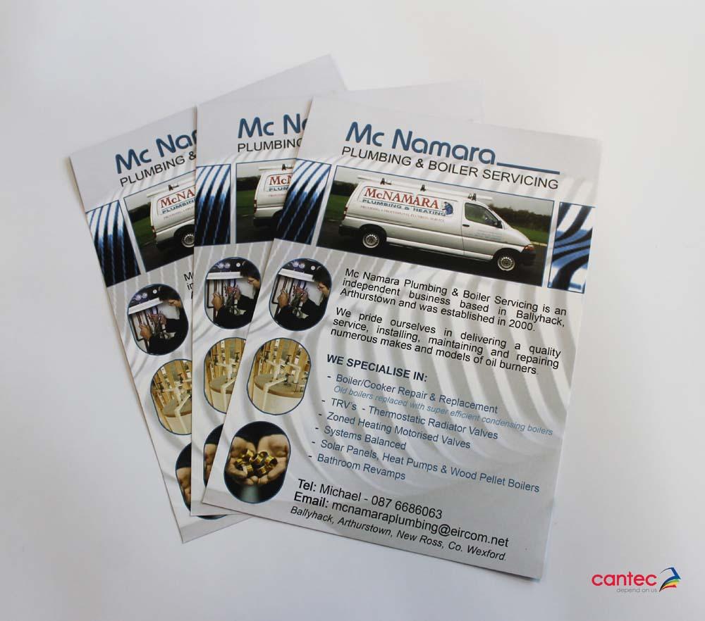 McNamara Plumbing Boiler Services Flyer