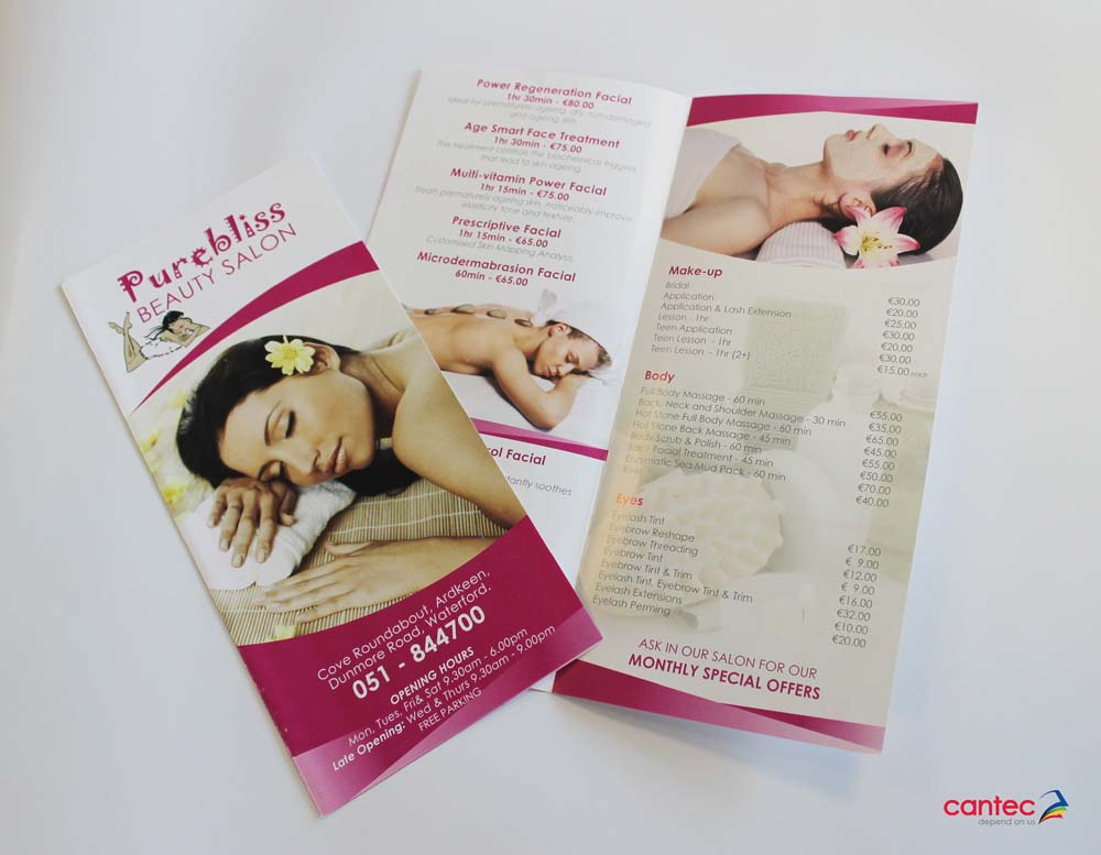 Purebliss Brochures