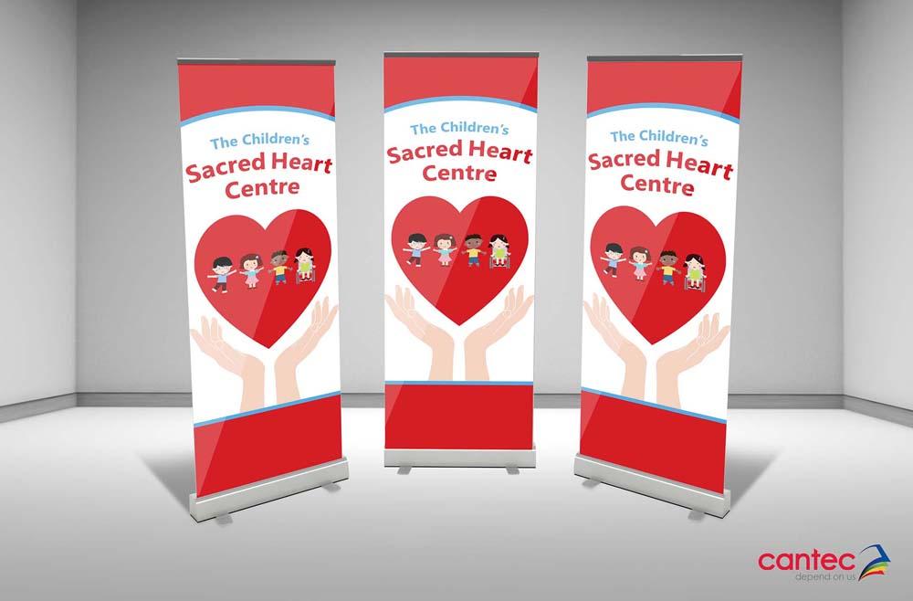Sacred Heart Centre Pull-Up Banner