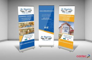 St Dominics Credit Union Pull-Up Banner