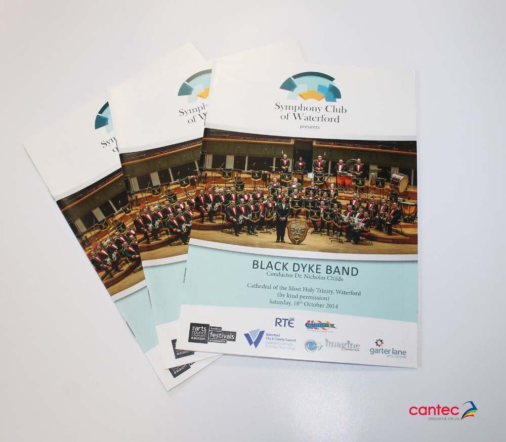 Symphony Club Waterford Black Dyke Band Flyer
