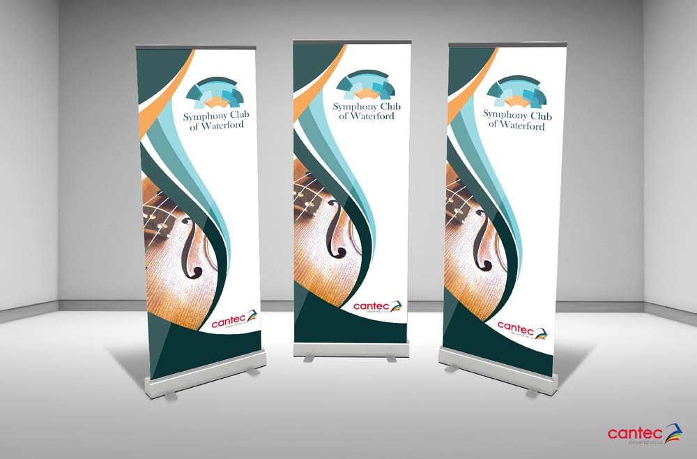 Symphony Club Waterford Pull-Up Banner