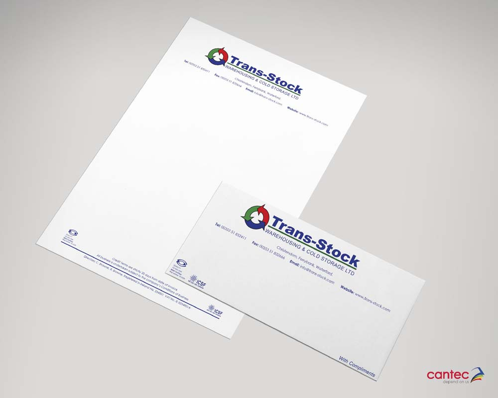 Trans Stock Business Stationery