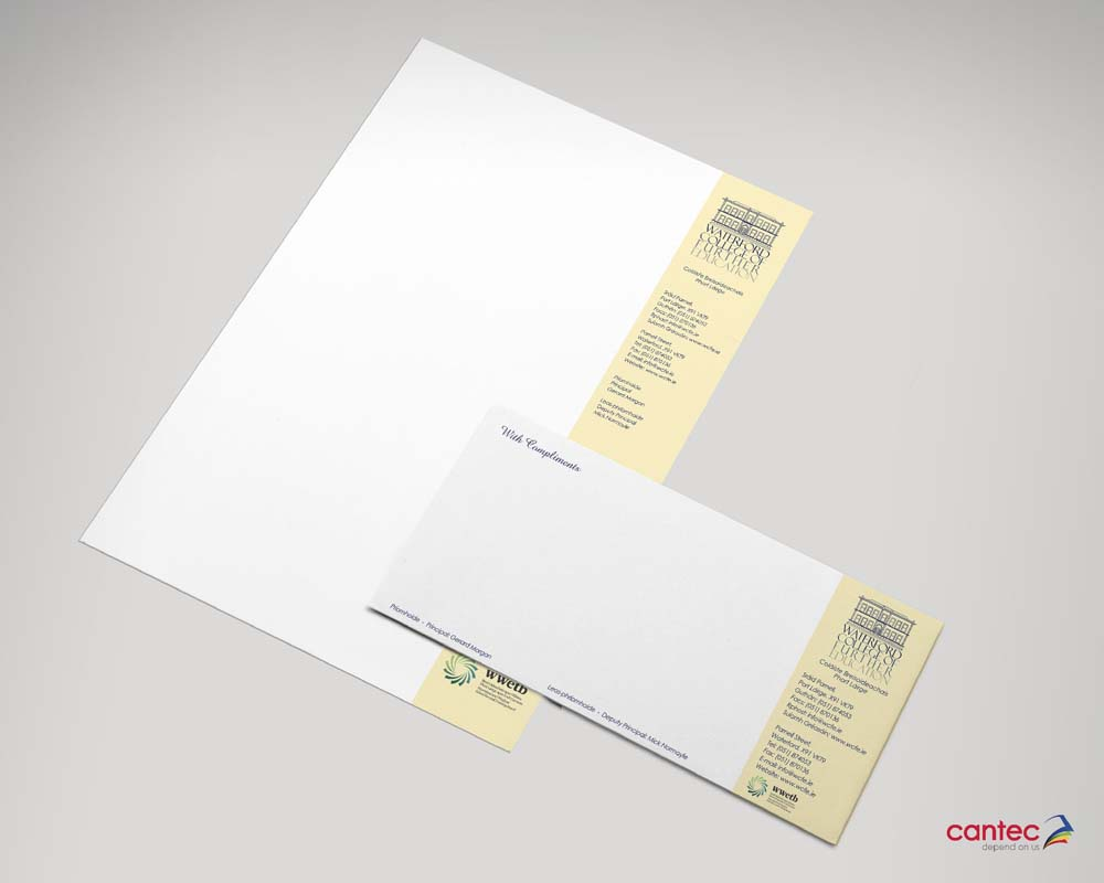 Business office stationery printing waterford and nationwide wcfe business stationery business stationery waterford chamber business cards colourmoves Images