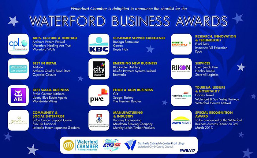 Waterford Business Awards Shortlist