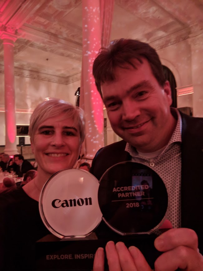 Cantec Accreditation Award 2018 from Canon