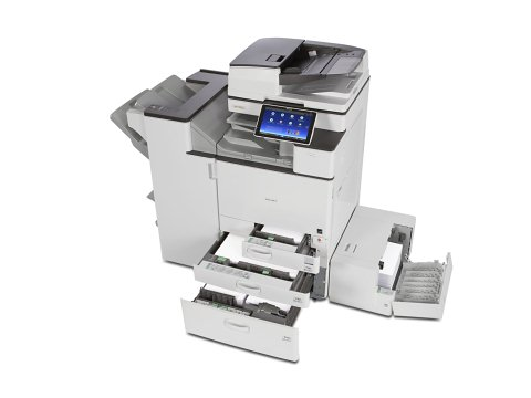 Ricoh MP C3504exSP multifunction Printer with finisher