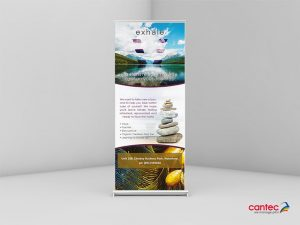Exhale Roll up Banner