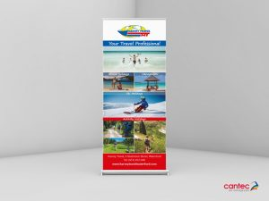 Harvey Travel Roll up Banner