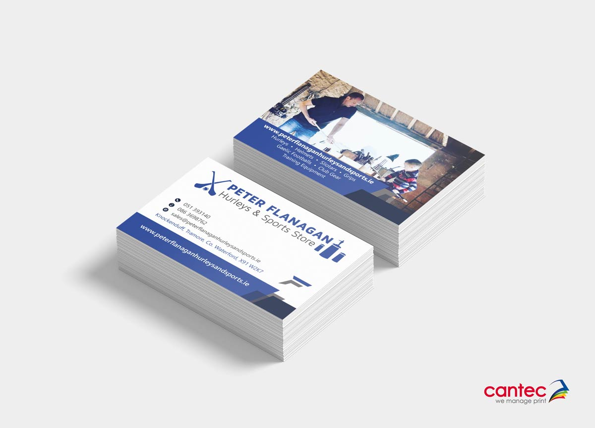 Peter Flannagan Hurleys Business Card