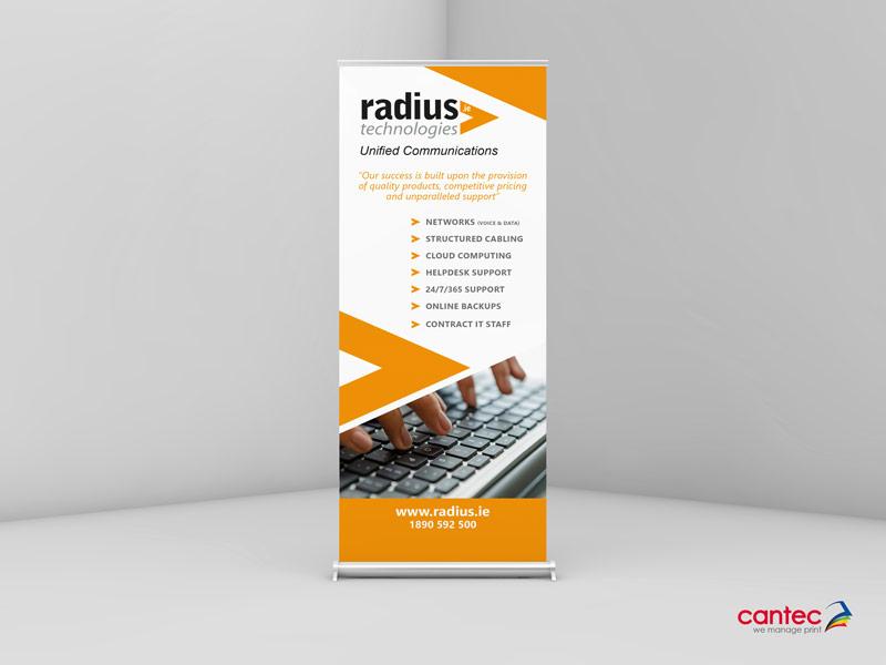 Radius Technologies Roll up Banner